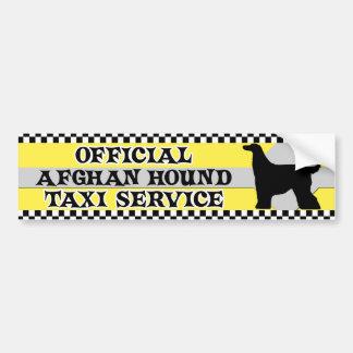 Tjänste- bildekal för afghansk hundtaxi