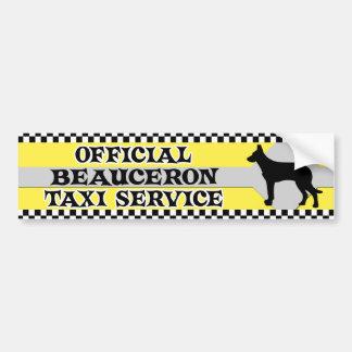 Tjänste- bildekal för Beauceron taxi