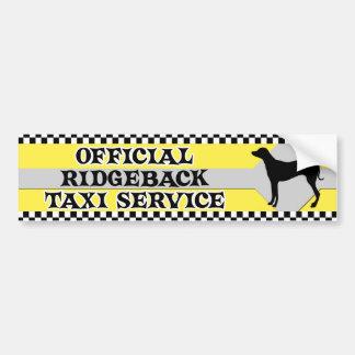 Tjänste- bildekal för Rhodesian Ridgeback taxi