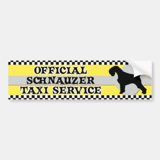 Tjänste- bildekal för Schnauzertaxi
