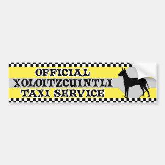 Tjänste- bildekal för Xoloitzcuintli taxi