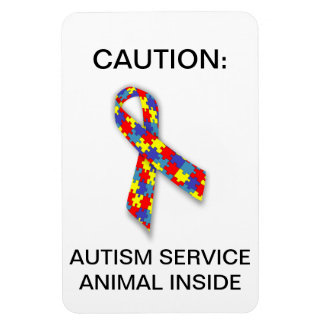 Tjänste- djur inre magnet för Autism