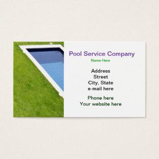 Tjänste- företagsvisitkort för bassäng visitkort