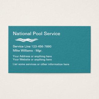 Tjänste- modern design för bassäng visitkort