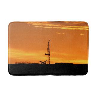 Tjänste- rigg för OilfieldWorkover, orange Badrumsmatta