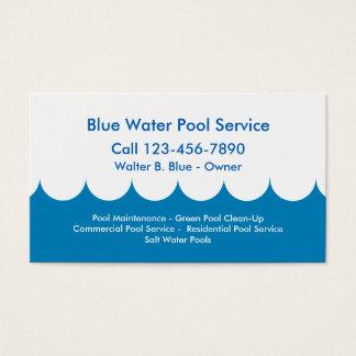 Tjänste- visitkort för bassäng