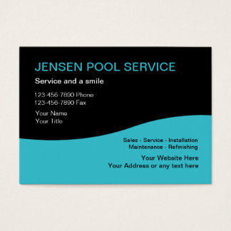 Tjänste- visitkortar för bassäng visitkort