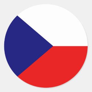 Tjeckisk högkvalitativ flagga runt klistermärke