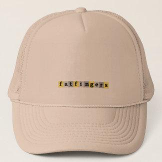 tjock fingrar hatten truckerkeps