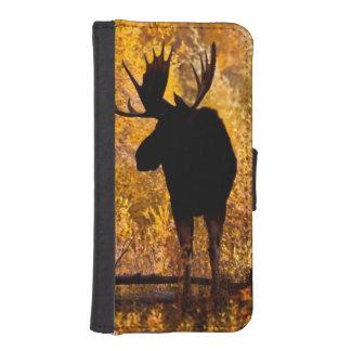 Tjur för älg (AlcesAlces) i guld- pilar 2 iPhone SE/5/5s Plånbok