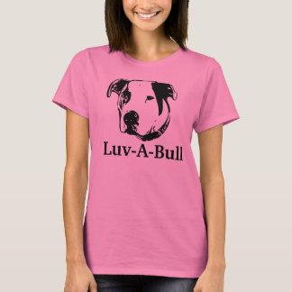 Tjur för grop för Luv-EN-Tjur amerikanbulldogg T-shirt