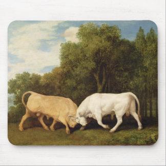 Tjurar som slåss, 1786 (olja på panel) musmatta