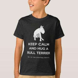 TjurTerrier: Håll lugn och krama en tjurTerrier Tee Shirt