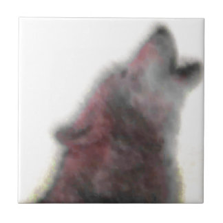Tjuta vargen liten kakelplatta