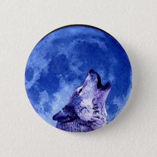 Tjuta vargen på månen standard knapp rund 5.7 cm