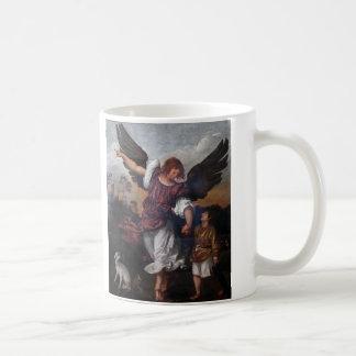 Tobias och ärkeängelRaphaelen - Titian Kaffemugg