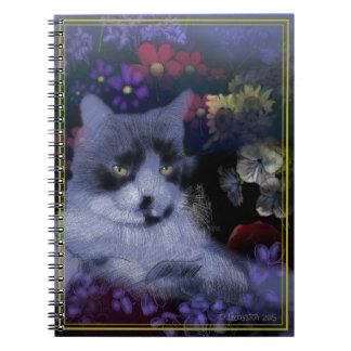 Toby katt anteckningsbok med spiral