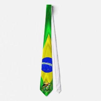 Toco Toucan med den Brasilien flaggatien Slips