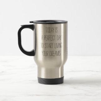 Todayen är en perfekt dag ·, Travel mug | NNUBE Rostfritt Stål Resemugg
