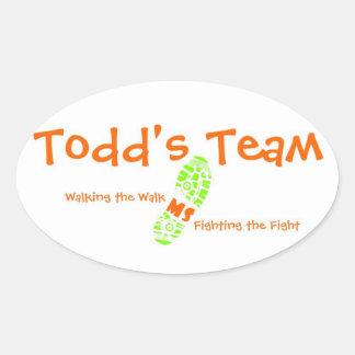 Todds klistermärke för lagOval