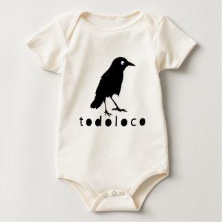 Todoloco kråka body för baby