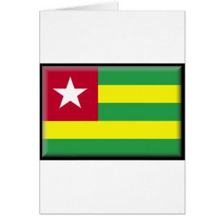 Togo flagga hälsningskort