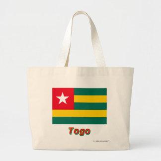 Togo flagga med namn tote bags