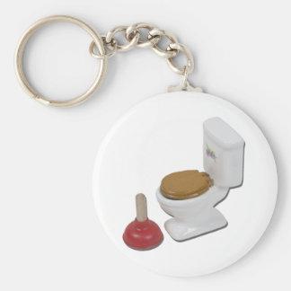 ToiletLargePlunger051411 Rund Nyckelring