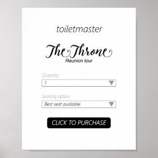 Toiletmaster badrumtryck poster