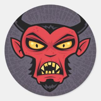 Tokig djävulen runt klistermärke
