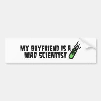 Tokig forskare för pojkvän bildekal