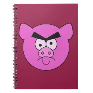 Tokig grisanpassningsbaranteckningsbok anteckningsbok