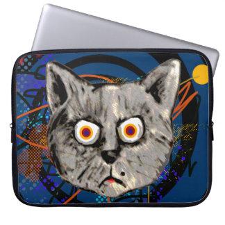 tokig konstig katt~ jamar laptop sleeve