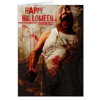 tokig slaktare halloween hälsningskort