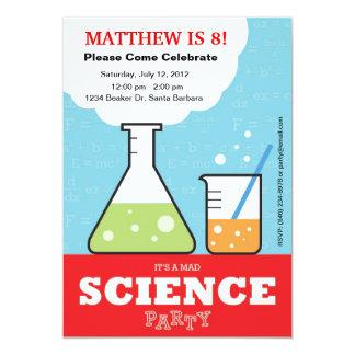 Tokig vetenskapsfödelsedaginbjudan 12,7 x 17,8 cm inbjudningskort