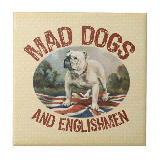 Tokiga hundar & engelsmän keramiska plattor