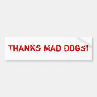 Tokiga hundar för tack! Bildekal