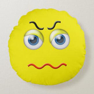 Tokiga ilskna Emoji Rund Kudde