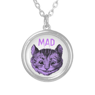 Tokigt Cheshire katthalsband (den våldsamma Halsband Med Rund Hängsmycke