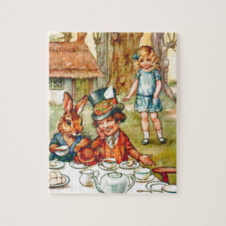 Tokigt hatters Teaparty - Alice i underland Jigsaw Puzzles