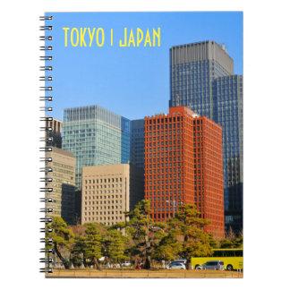 Tokyo Japan Anteckningsbok Med Spiral