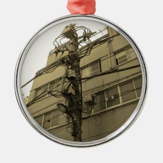 Tokyo stadselkraft Pole Julgransprydnad Metall