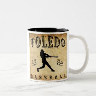 Toledo Ohio baseball 1884 Två-Tonad Mugg
