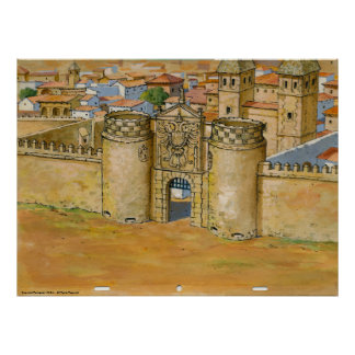 Toledo-Puerta de Bisagra Universitetslärare Quixot Poster