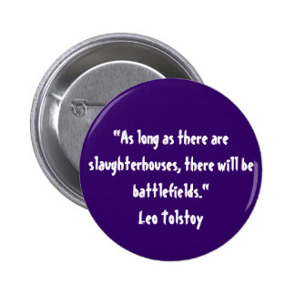 Tolstoy vegetariskt citationstecken standard knapp rund 5.7 cm