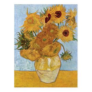 Tolv solrosor av Vincent Van Gogh Vykort