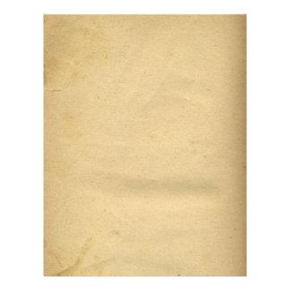 Tom antikvitet befläckt 1880'spapper brevhuvud