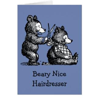 Tom Beary trevlig frisör Hälsningskort