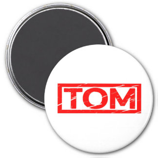 Tom frimärke magnet rund 7.6 cm