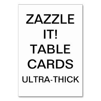 Tom mall för beställnings- personligbordkort bordsnummer